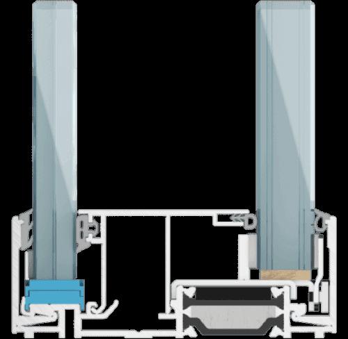 struktura systemu ścian szklanych