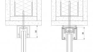 Mocowanie systemu GSW Office do ścian i stropów