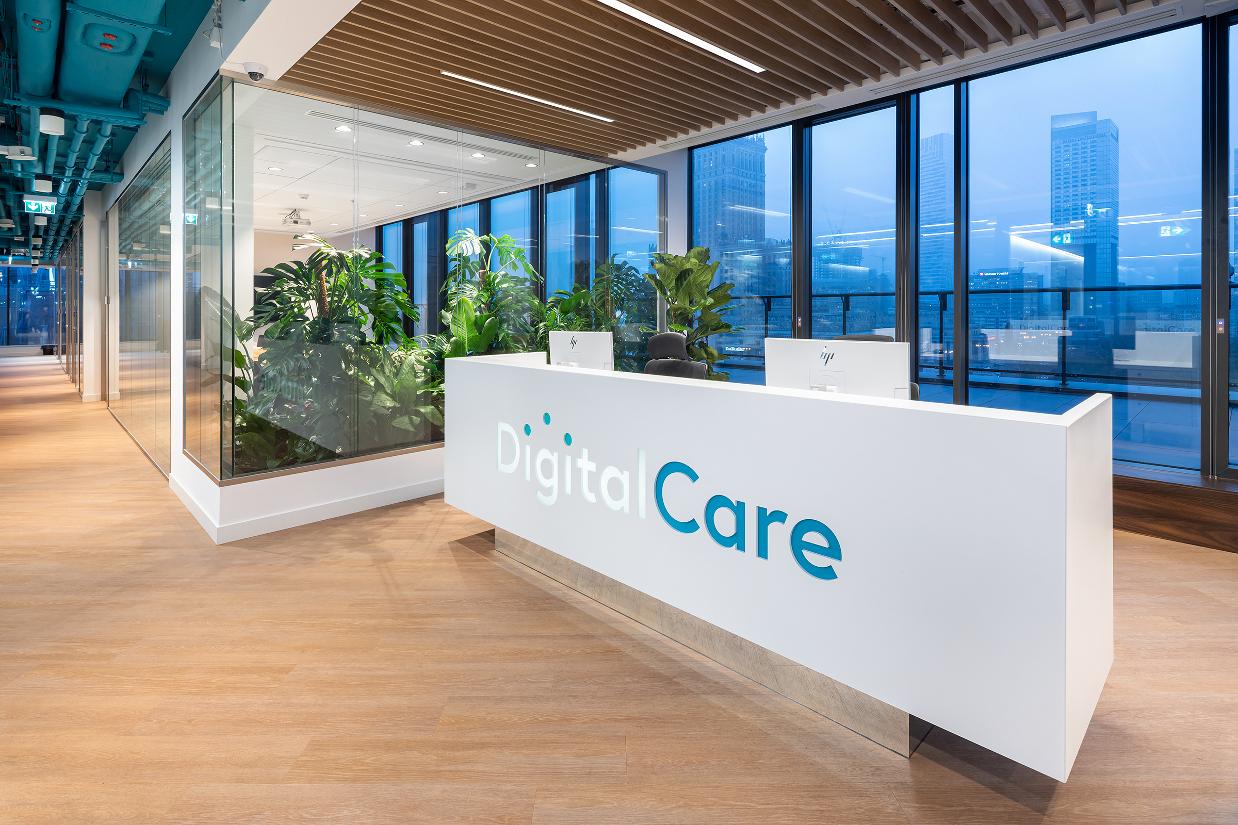 systsem ścian szklanych realizacje digital care