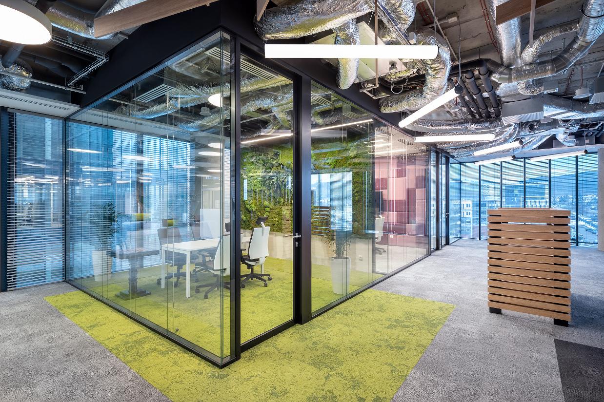 systemy ścian szklanych idea bank